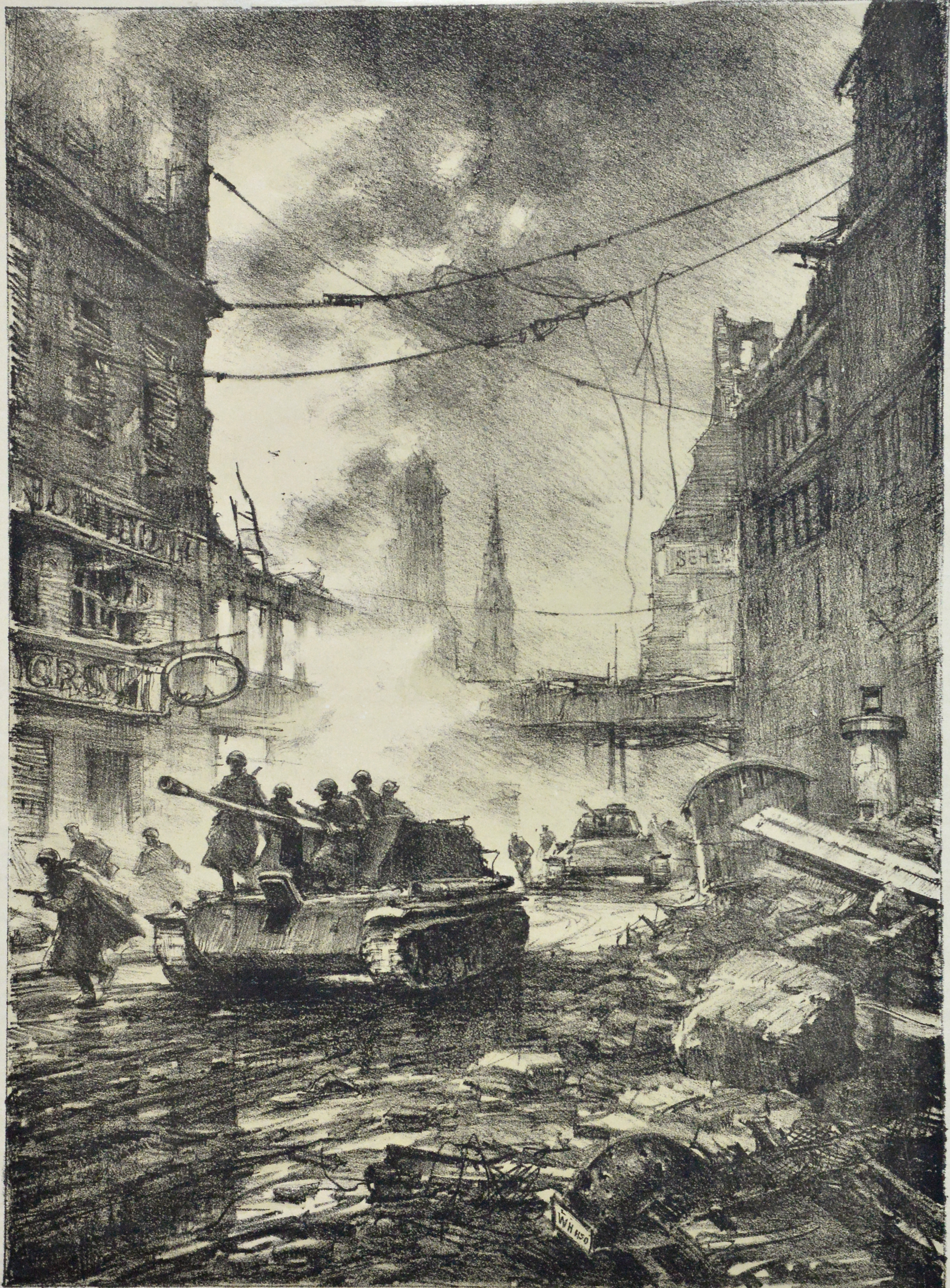 В.В. Богаткин. «Вперёд, к Рейхстагу!». 1949 г.
