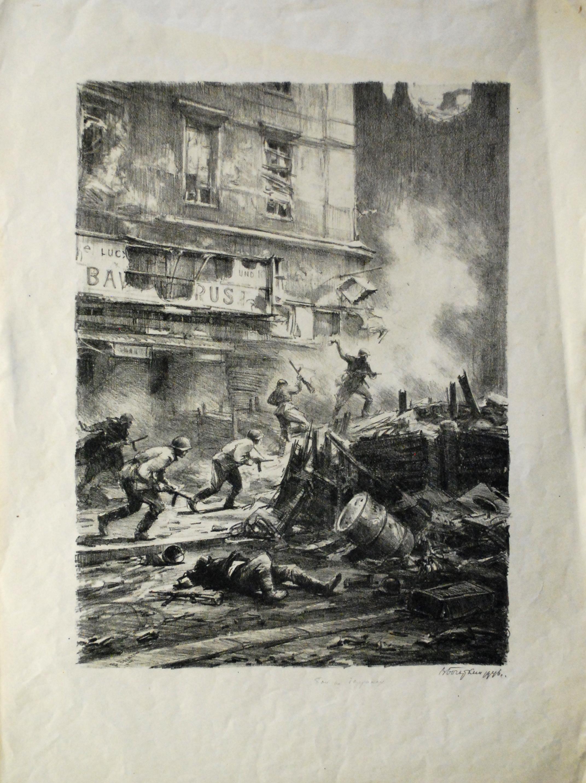 В.В. Богаткин. «Бой на баррикадах Берлина». 1949 г.