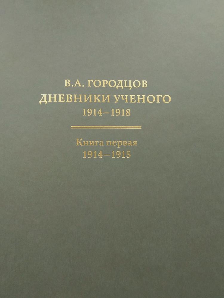 Городцов Василий Алексеевич. Дневники ученого. 1914-1918
