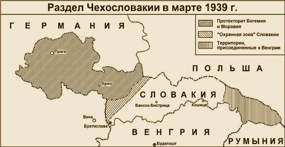 Раздел Чехословакии в марте 1939 года