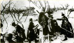 Артподготовка советских войск перед началом штурма Калуги. 30.12.1941 г.