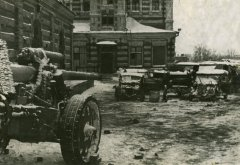 Брошенная немецкая техника на вокзале Калуга-1. Фото начала 1942 г.