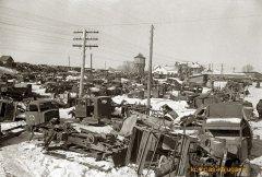 Останки немецкой техники в окрестностях Калуги. 30 декабря 1941 г.