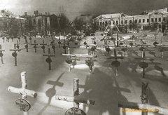 Немецкое кладбище в сквере Ленина (декабрь 1941 г.)