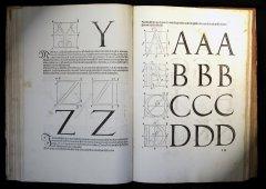 Dürer, Albrecht (1471–1528). Underweysung der messung, mit dem zirckel und richtscheyt... — Gedruckt zu Nüremberg [Nürnberg]: [Hieronymus Andreae], 1525 Альбрехт Дюрер (1471—1528). Наставление к измерению циркулем и линейкой линий, плоскостей и объёмных тел, составленное Альбрехтом Дюрером и напечатанное, с относящимися сюда рисунками на пользу всем любителям искусства в 1525 году. Издано в Нюрнберге в 1525 году печатником Иеронимом Андреасом.