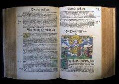Biblia: das ist: die gantze Heilige Schrifft Deudsch Auffs new zugericht. D. Mart. Luth. Wittemberg ; Lufft ; 1540–1541 Издание Полной Библии в переводе Мартина Лютера, «заново уточненное». Напечатано в Виттенберге Гансом Луффтом в 1540—1541 годах.
